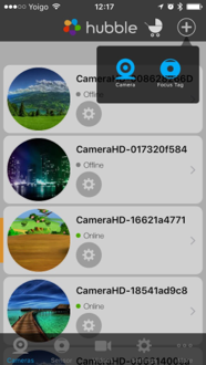 What are the steps to setup my Hubble camera on iOS using Wi-Fi®?